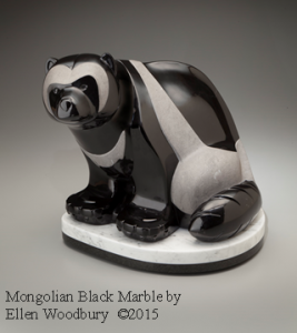 Mongolian Black marble by Ellen Woodbury