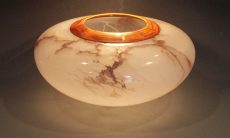 Red Veined Bowl by Mike Phillips